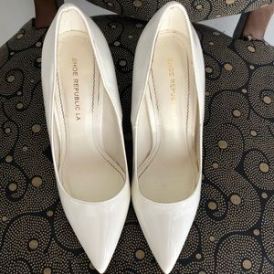 Shoes - White Pointy Heels